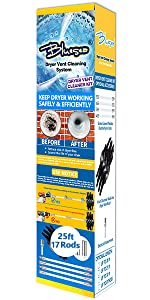 25 Feet dryer vent cleaning kit