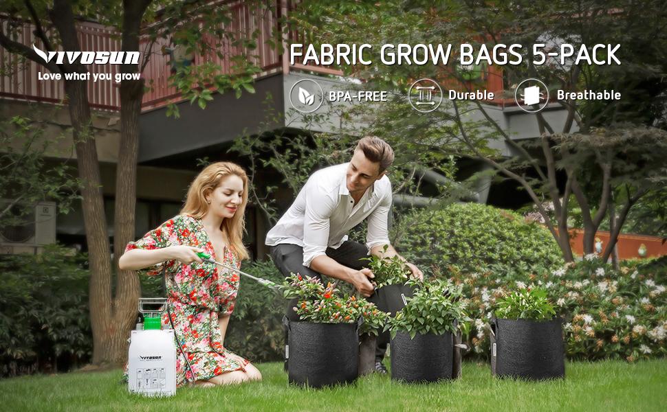 Grow Bags 5 Pack