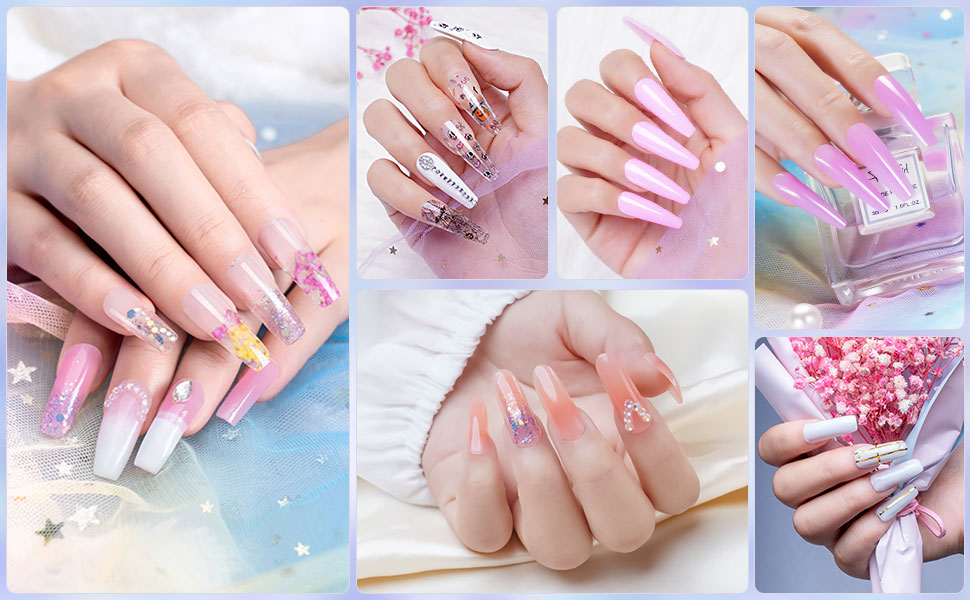 light pink nude clear white glitter colors ongle x gel nail shellac top base coat