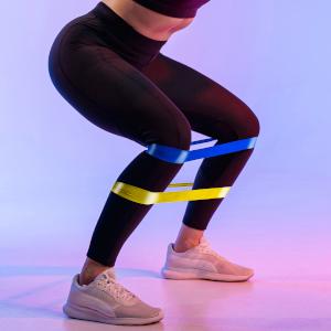 Set van 5 weerstandsbanden - voor mannen en vrouwen, verschillende rebound-niveaus, fitnessbanden