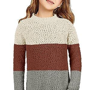 Gemijack Womens Oversized Fuzzy Fleece Sweaters  Casual Winter Pullover