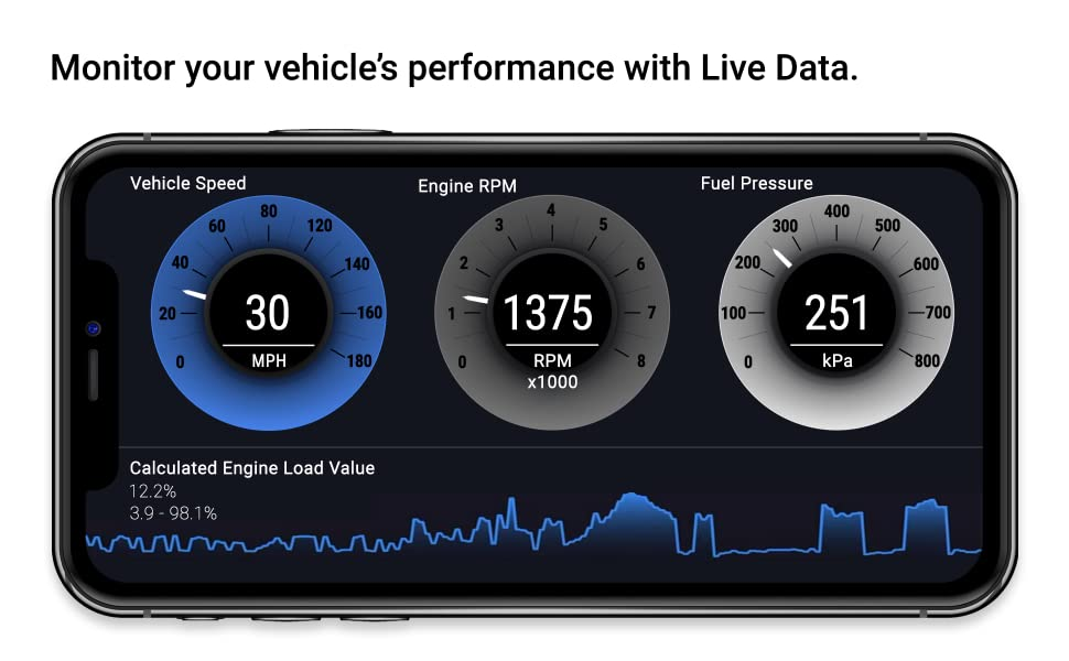 Monitor your vehicle's performance with Live Data.