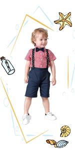Boys Summer Clothes Sets Summer Short Set Boys 4PCS Pant Sets