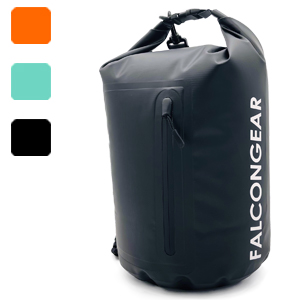 10L dry bag black mint orange