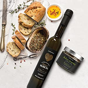 Vervana Bread Dipping Essentials Gift Set with bread
