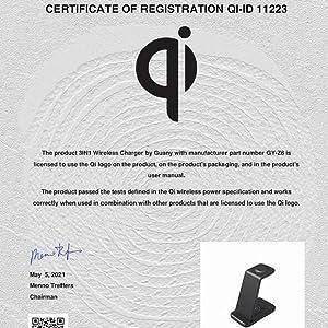 Qi-certificate