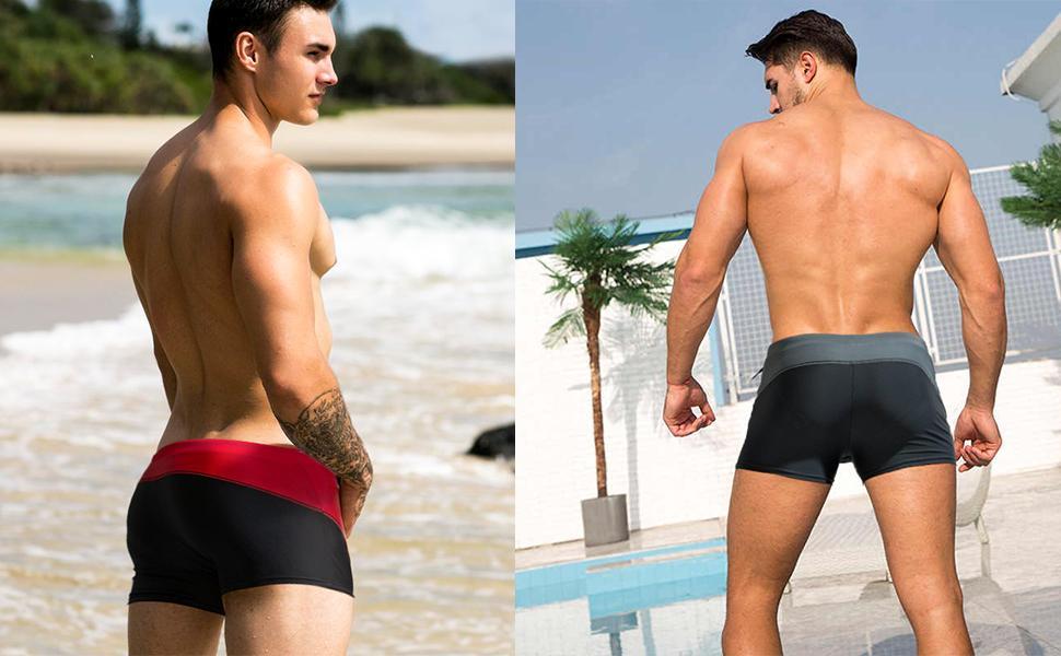 Fashion Stylish Men Quick Drying Elastic Briefs Swimming Trunks Underwear 2019