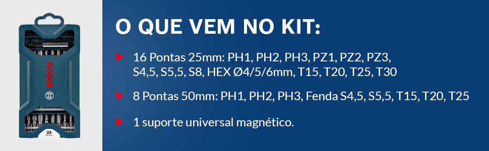 Kit de Pontas Mini X-Line