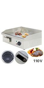 commercial griddle electric flat top grill electric griddle countertop tortilla press electric grill