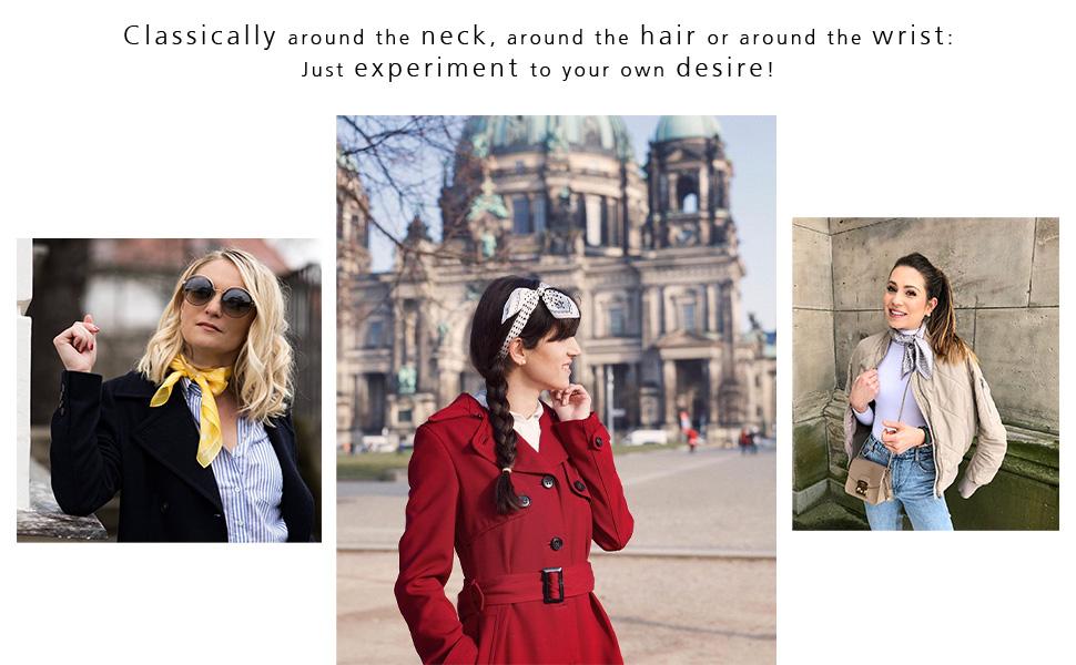 clasically around the neck