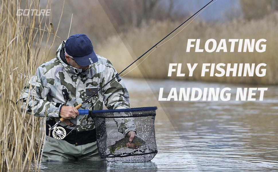 floating fishing net fly fishing net trout net wading net