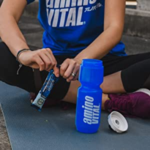 post workout bcaa amino acid powder supplement in water