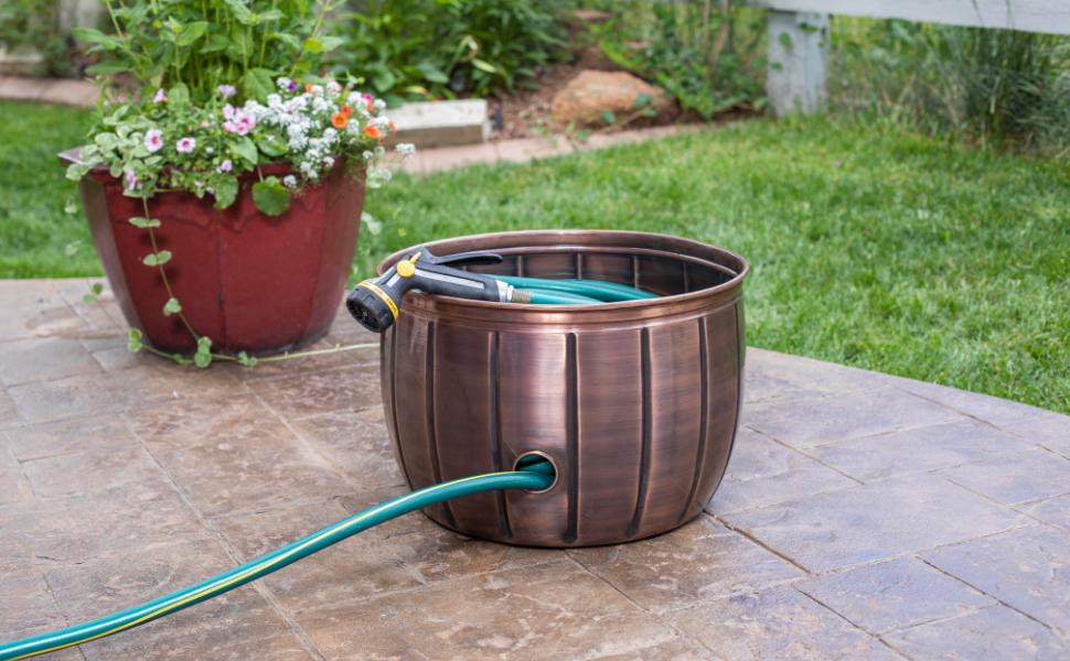 Hose Pot, Gardening Storage, Outdoor Storage, Hidden Storage, Hose storage, organizer