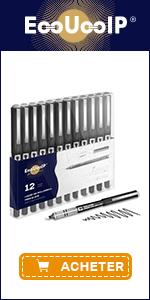 EooUooIP 12 Pcs Fine Point Rollerball Gel Ink Pen