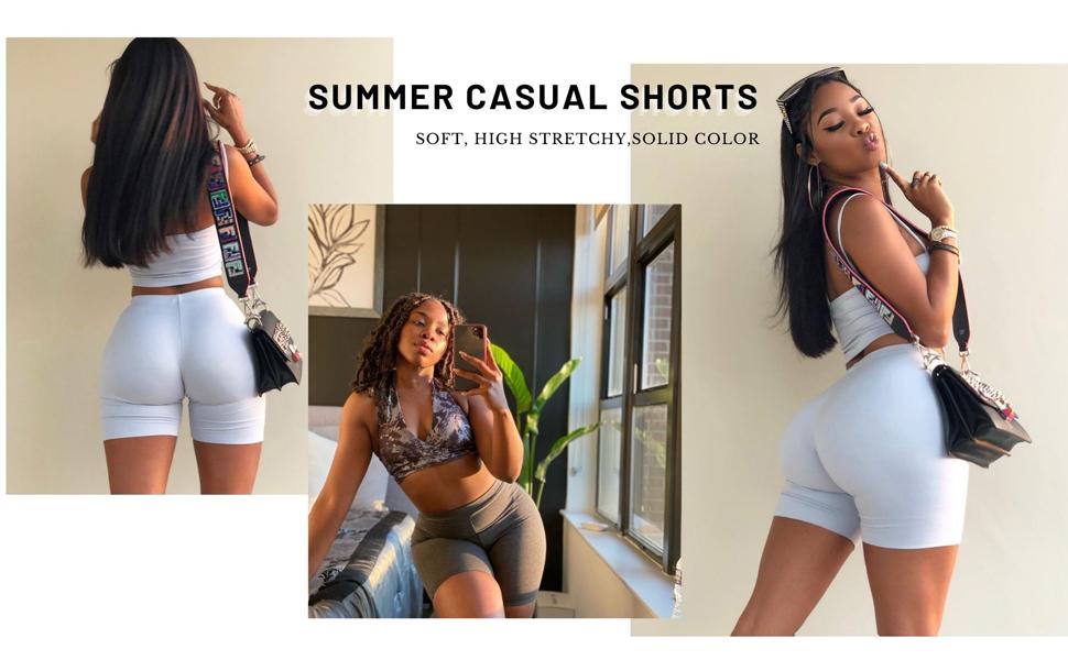 biker shorts sets for women