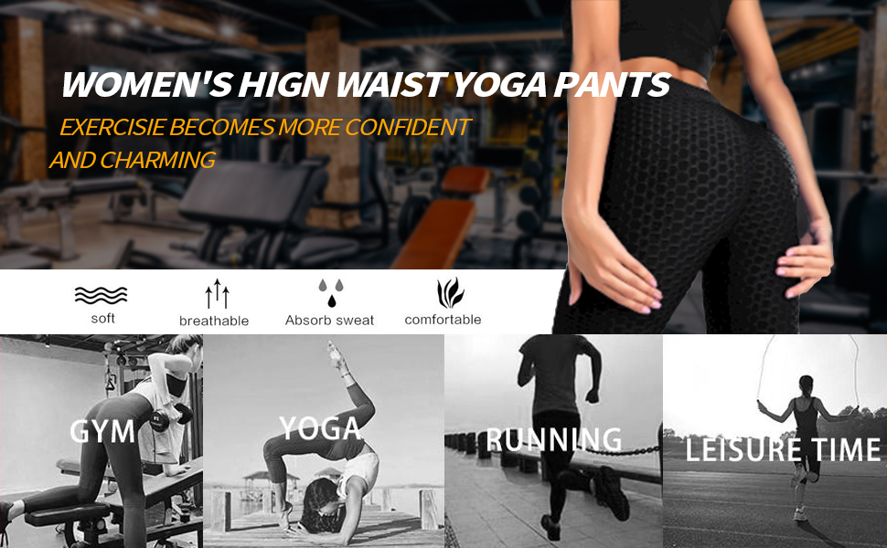 womens high waist yoga pants exercisie becomes more confident and charming
