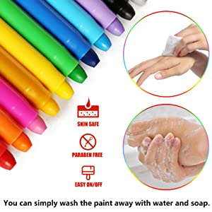 Washable with soap and water