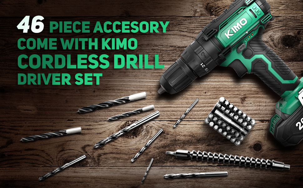 power drill cordless drill bit set drill and driver battery operated drill