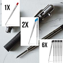 1, 2, or 6 Packs ink refill bolt action bastion pen