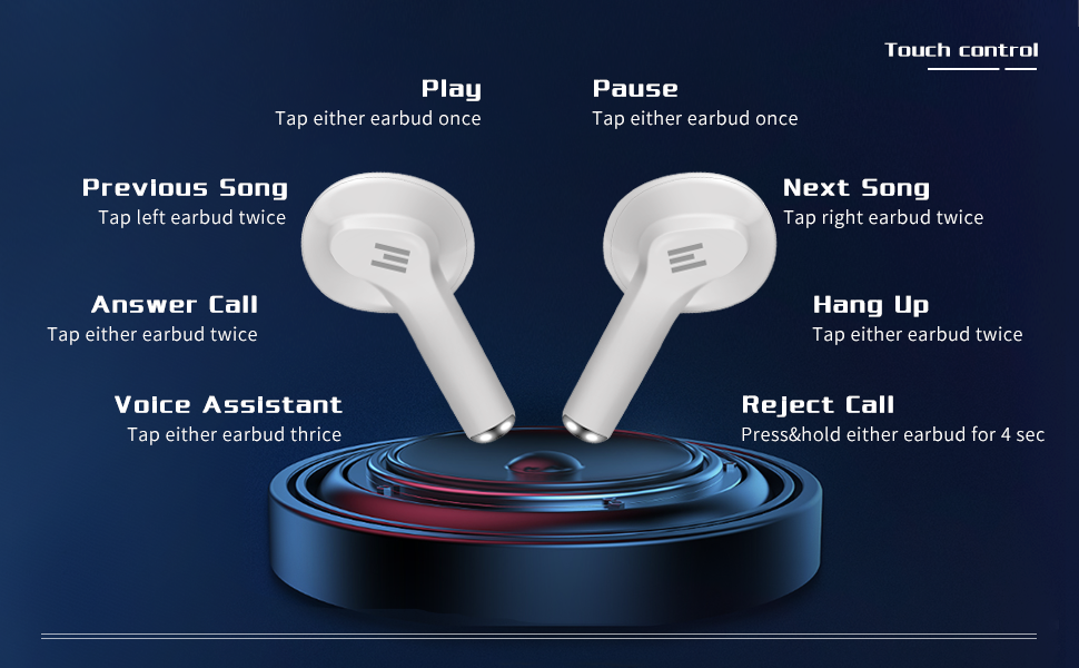 wireless earbuds with microphone