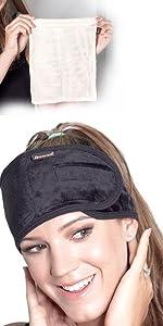 Premium 3 Pack Bamboo Velvet Spa Headband with Laundry Bag