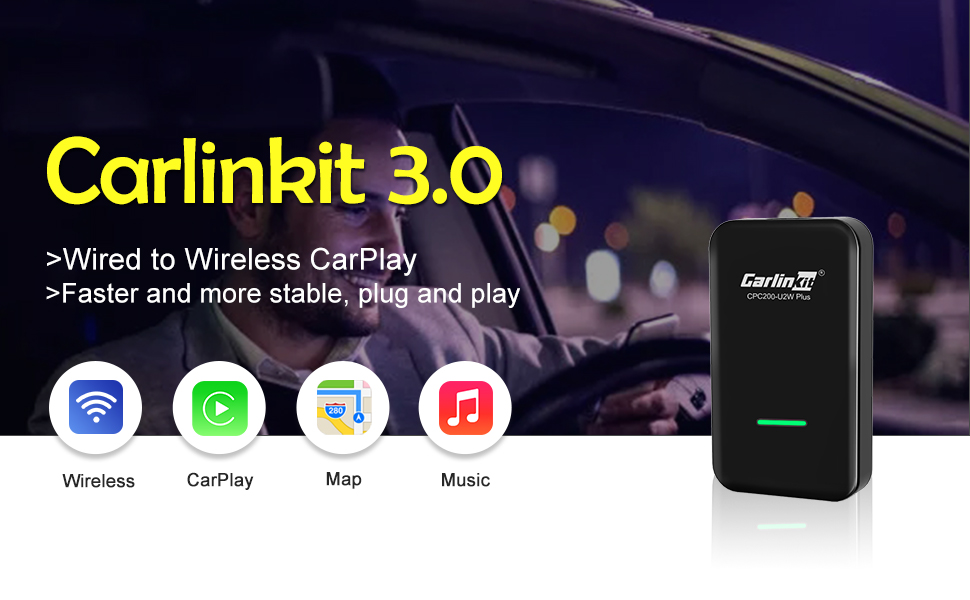 The original car has a built-in factory wired Apple carplay model for use