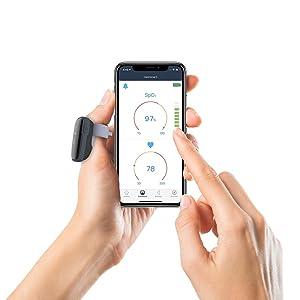 Puedes seguir tu nivel de oxígeno y tu ritmo cardíaco en tiempo real en el panel de control