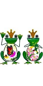 frog decor garden statue
