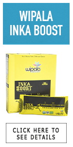 inka coffee instant ground bar prepackaged energy boost wipala vegan organic gluten free