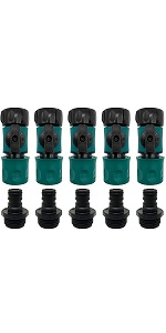 hose quick connect with valve