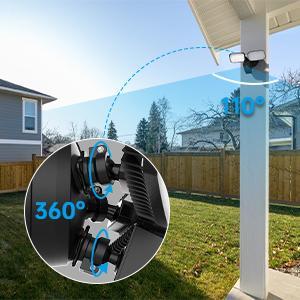 security camera flood light  adjustable angle