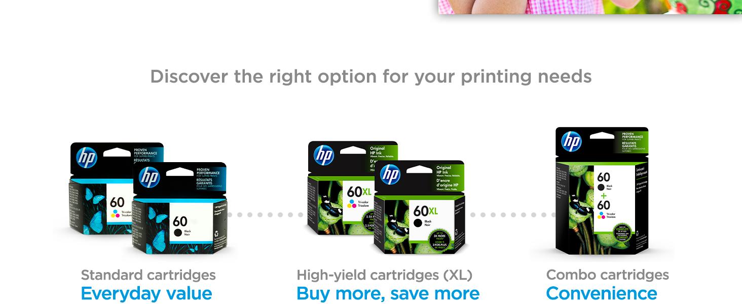 original hp 60 ink standard high-yield multipack cartridges Instant Ink value