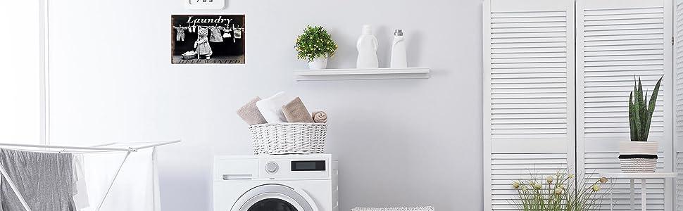 vintage laundry metal sign