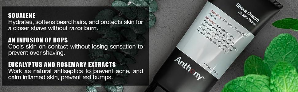 Anthony Shaving Cream Mens Sensitive Skin