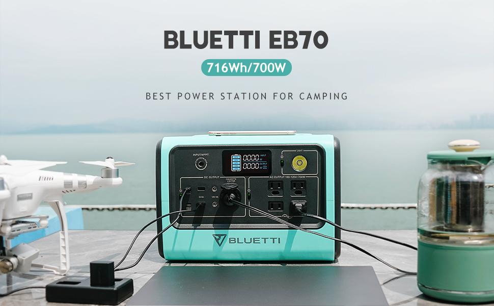 BLUETTI EB70 716Wh 700W Best Power Station for Camping Outdoor 970x600