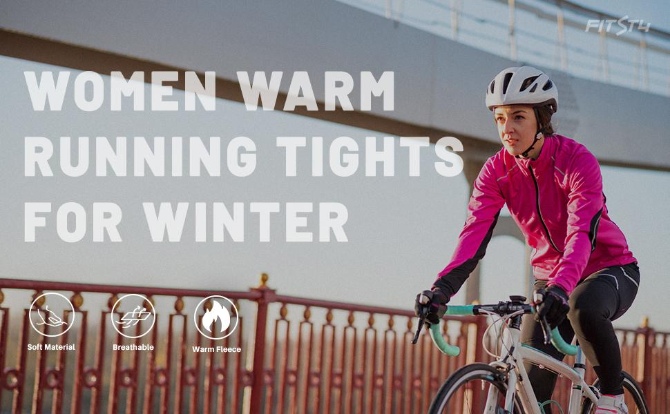 women thermal running tights