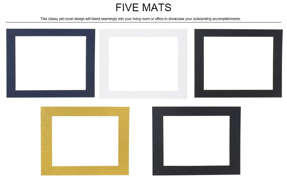 Diploma Frame with five mats