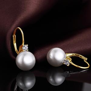 Orecchini perle Swarovski oro