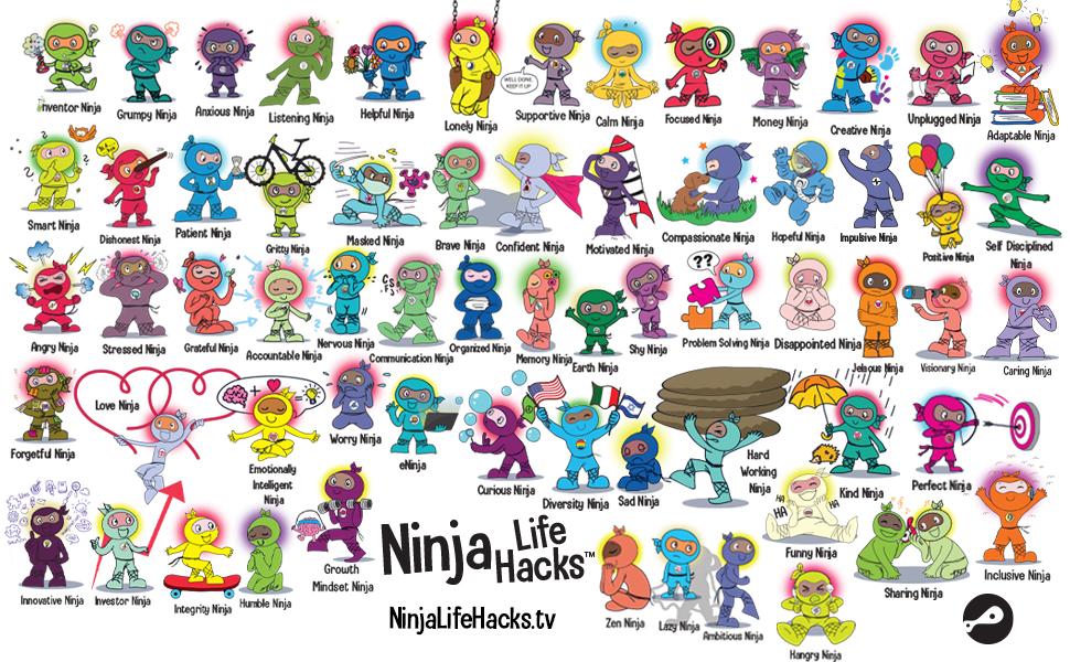 ninja life hacks Mary nhin ninja collection ninja series ninja books for boys