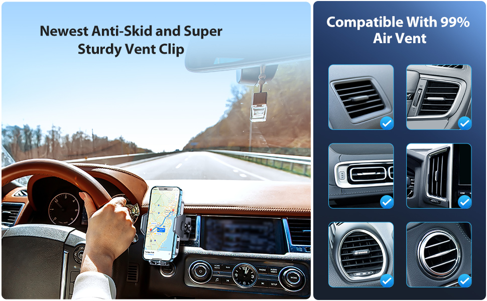 VICSEED 2021 Military-Grade Universal Cell Phone Holder for Car Air Vent dashboard windshield