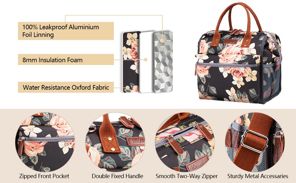 insulated lunch bag women