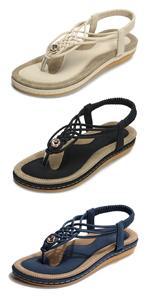 sandaler dam platt sommar