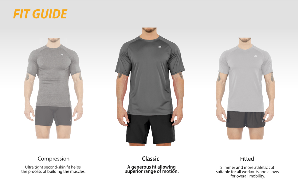 mens athletic tee shirts size chart