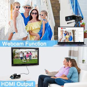 WEBCAM FUNCTION & HDMI OUTPUT