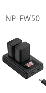 Camera Battery Charger Set for Sony NP-FW50