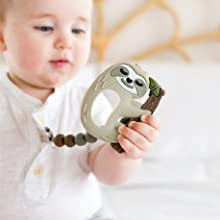Loulou lollipop teether, easy to hold, perfect for little hands.