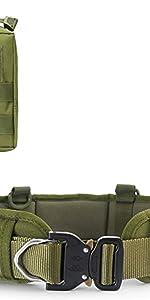 1 x battle belt,1 x molle pouch