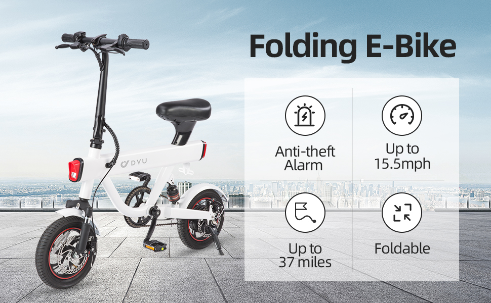 DYU Electric Commuter Bicycle with 10Ah Lithium-ion Battery