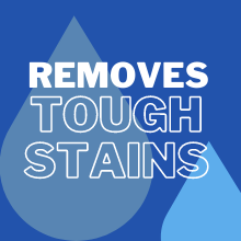 removes stains on dishes