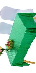 Sequin Green Tablecloth Rectangular